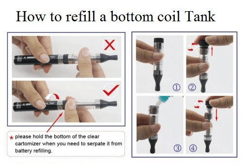 Product Support E-Cigarette - How To Fill Bottom Coil