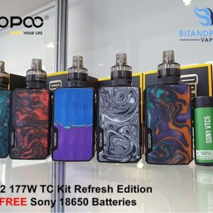 voopoo drag 2 refresh kit with free batteries