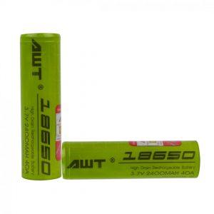 AWT 18650 3.7V 2400mAh 40A Battery (2 Pack)